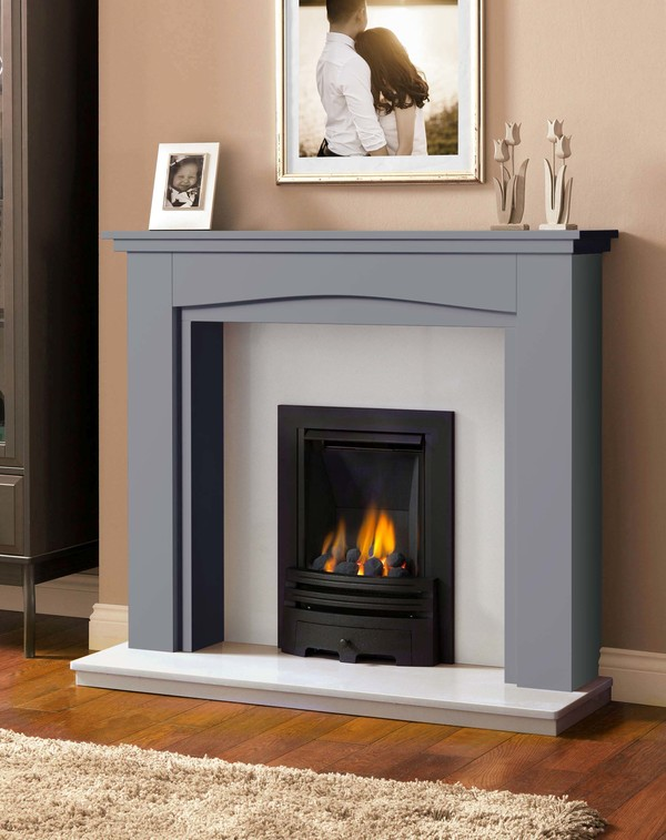 Windermere Fire Surround in Smooth Storm