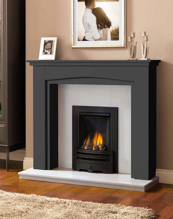 Windermere Fire Surround in Smooth Slate