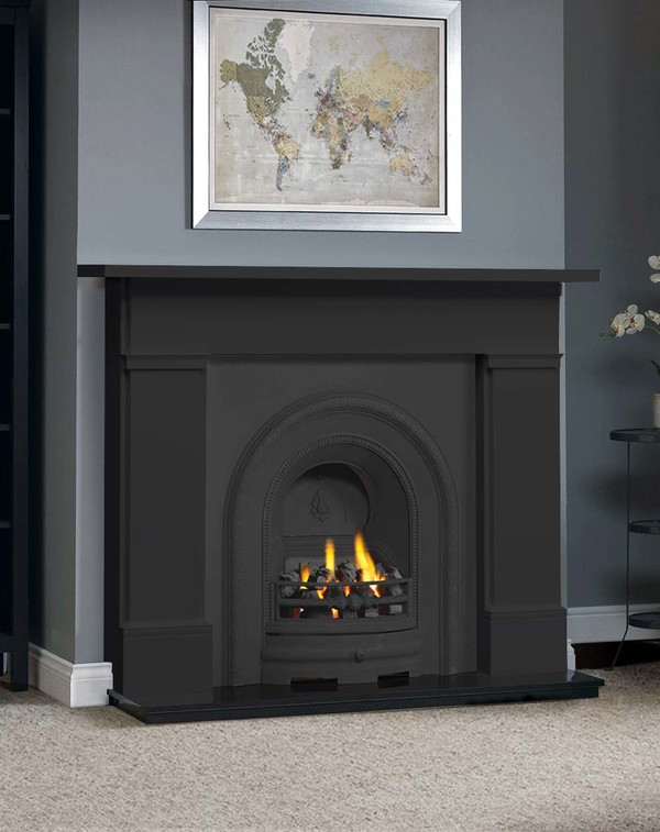 The Wickersley Fireplace Surround in Matt Black