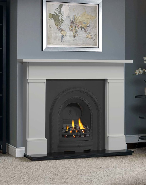 The Complete Wickersley Fire Surround Package : Smooth Mist