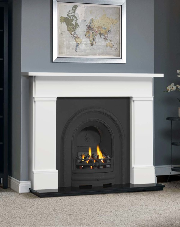 The Complete Wickersley Fire Surround Package : Brilliant White