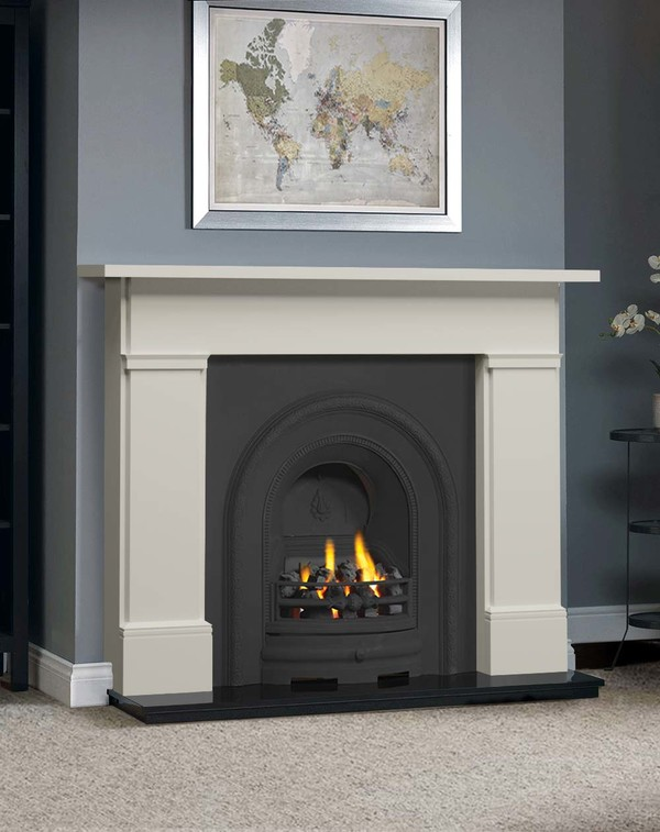 The Complete Wickersley Fire Surround Package : Olde England White