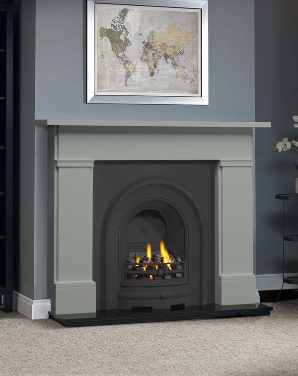 The Complete Wickersley Fire Surround Package : Smooth Olive