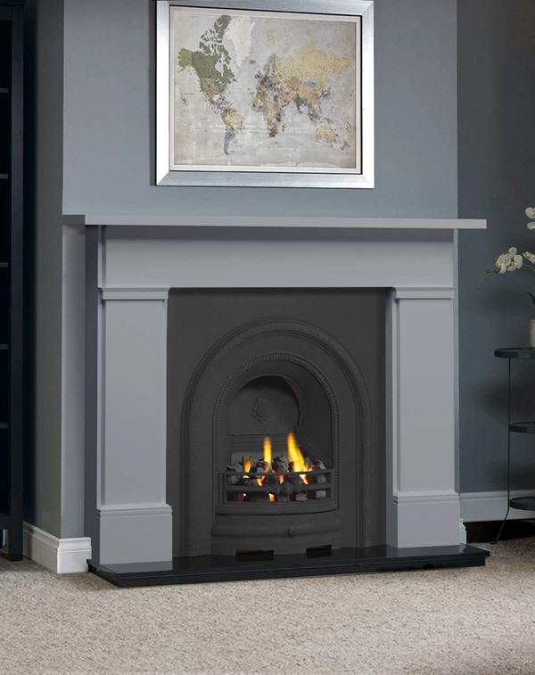 The Complete Wickersley Fire Surround Package : Smooth Cloud