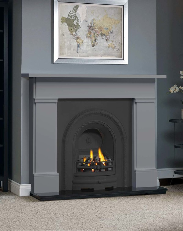 The Complete Wickersley Fire Surround Package : Smooth Storm