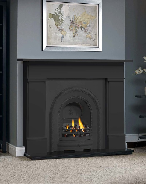 The Complete Wickersley Fire Surround Package : Smooth Slate