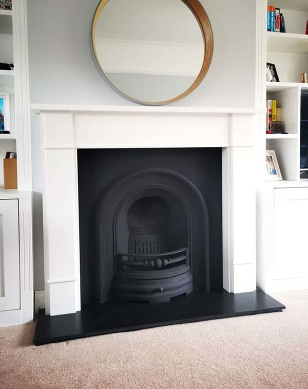Carlow Fire surround with matt black casting
