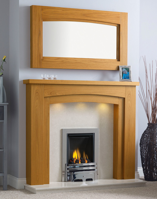 Newark-Arch Surround shown here in Golden Oak