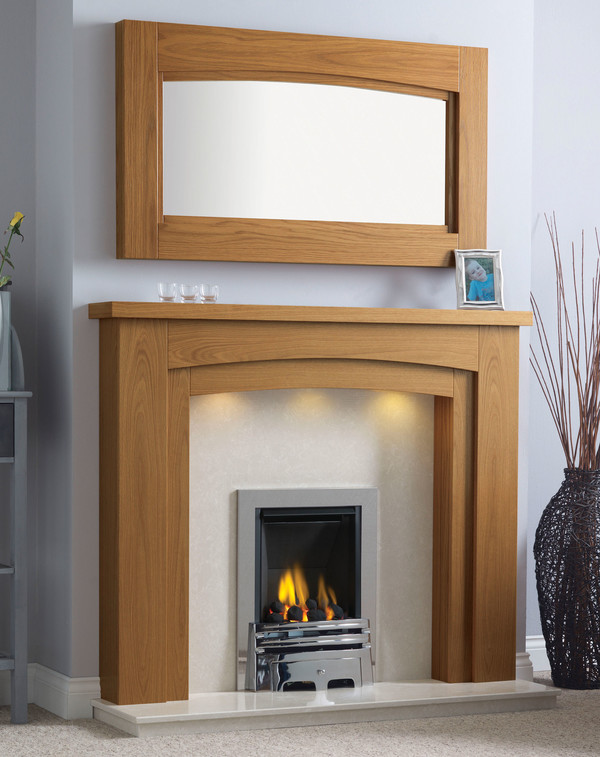 Newark-Arch Surround shown here in Medium Oak