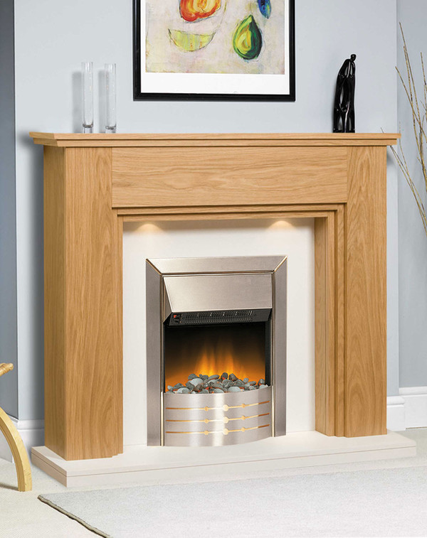 Bordeaux Electric Suite with Dimplex Aspen Fire
