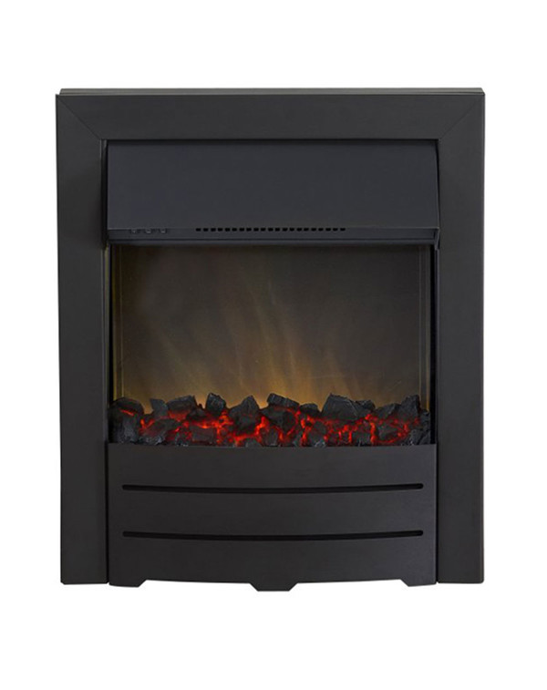 Colorado electric fire in black