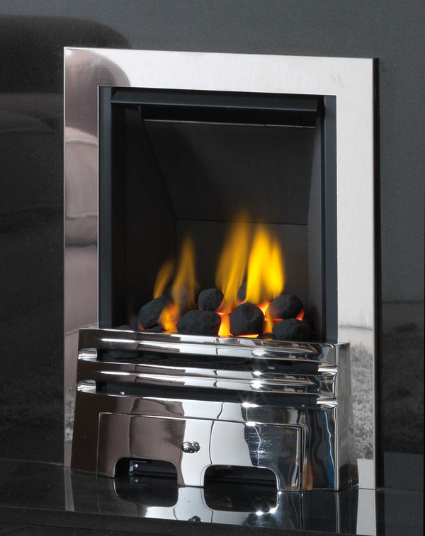Diamond Multi-Flue Gas Fire in Chrome