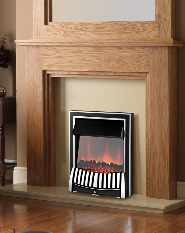 Elan Electric Fire Chrome and Black