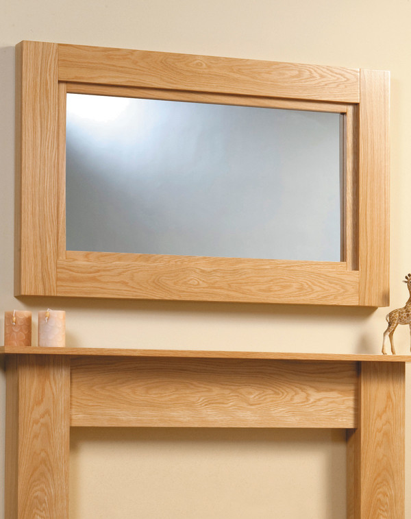 Darwin Mirror Shown Here in Clear Oak