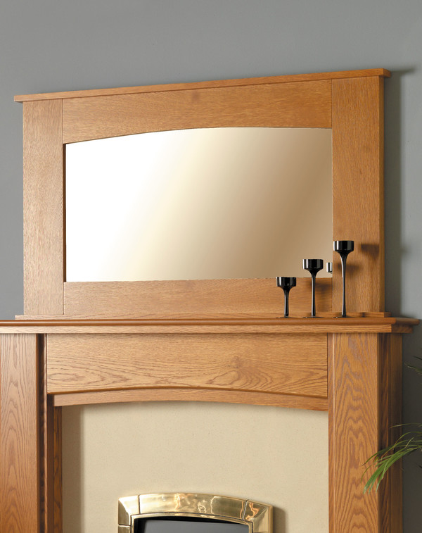 Melbourne wood mirror l