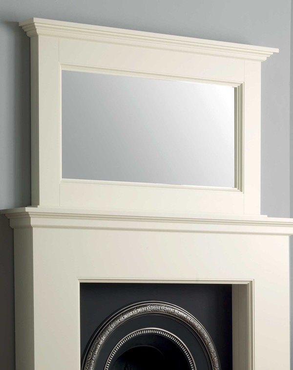 Napier Wood Mirror Shown Here in Olde England White
