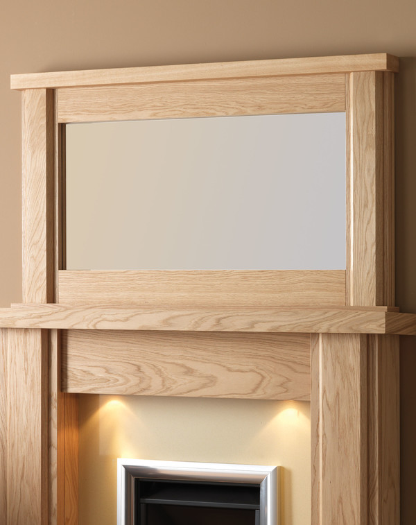 Nelson Wood Mirror Shown Here in Oiled Oak