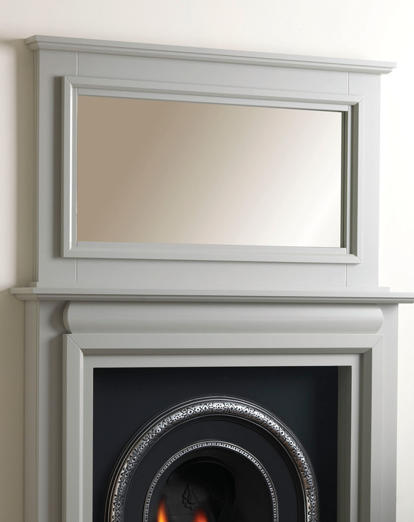Perth Fireplace Mirror Shown Here in Smooth Olive.