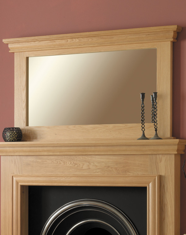 Sydney Mirror Shown Here in Clear Oak