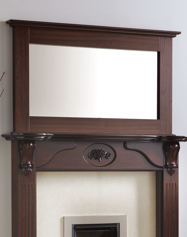 Tamwoth Mirror Shown Here in Brown Mahogany