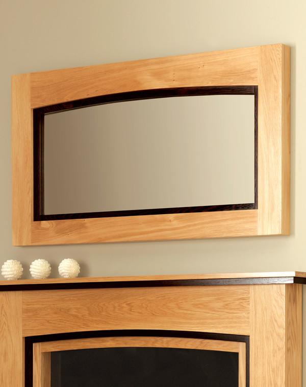 Wellington Mirror Shown in Clear Oak with Black Oak Inlay