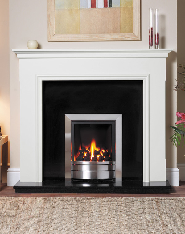 Salisbury Fire Surround in Brilliant White