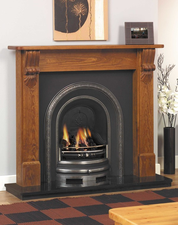 Lismore Fire Surround Shown Here in Medium Pine