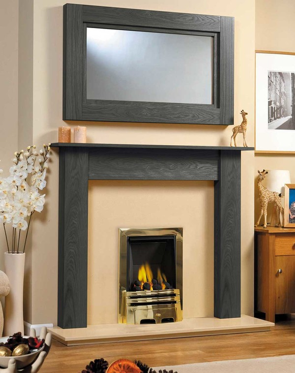 Fireplace Surround Shown in Black Oak