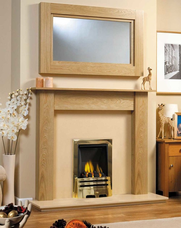 Fireplace Surround Shown Here in Celtic Oak