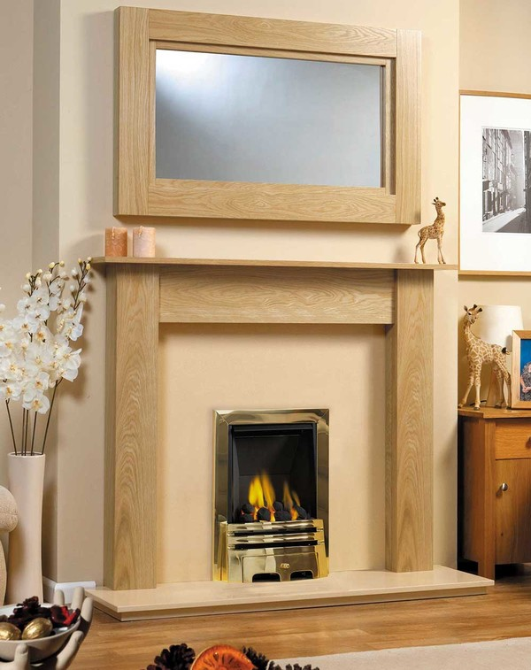 Fireplace Surround Shown in Matt Oak