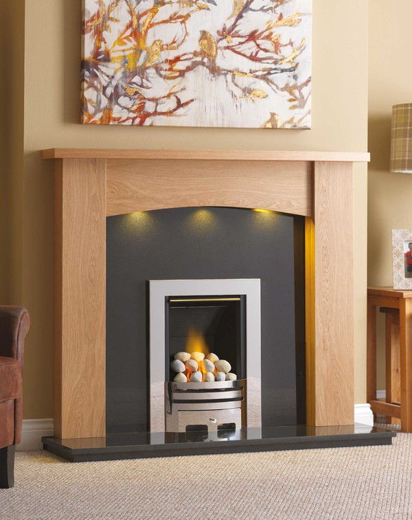 Solid Oak Balitmore Surround in Clear Oak