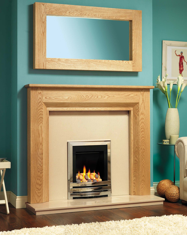 Cleveland Fire Surround Shown Here in Celtic Oak