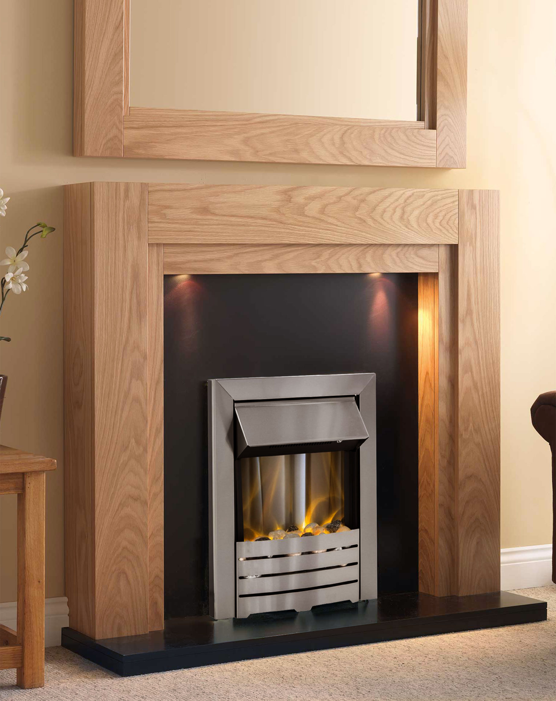 The Paris Electric Fireplace Suite Freestanding Electric Suites