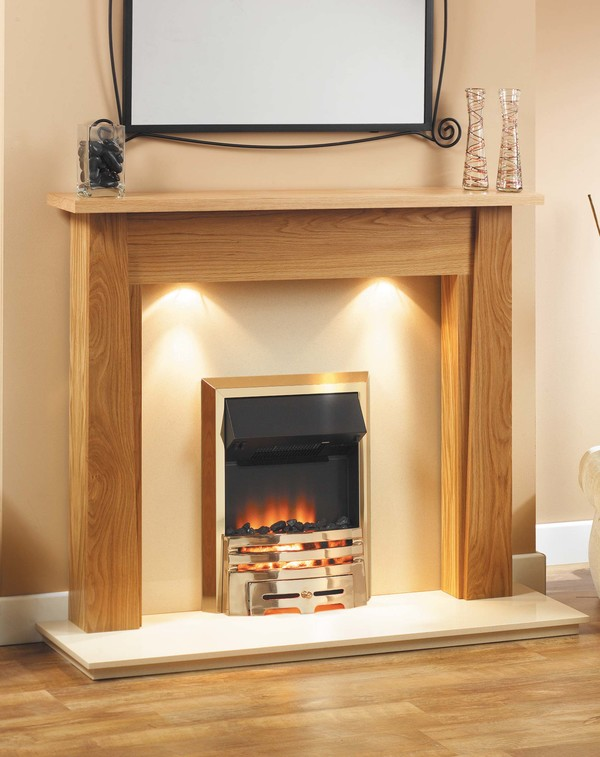 Longford Fire Surround, shown here in Clear Oak