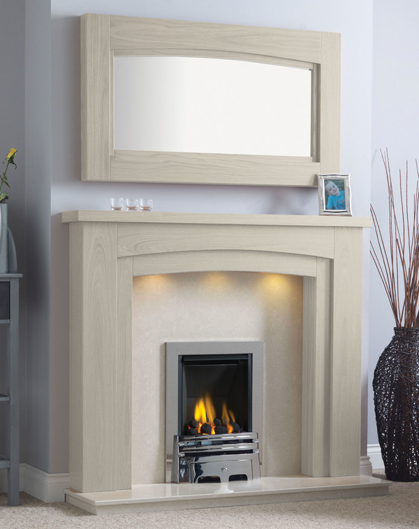 Newark-Arch Surround shown here in Ivory