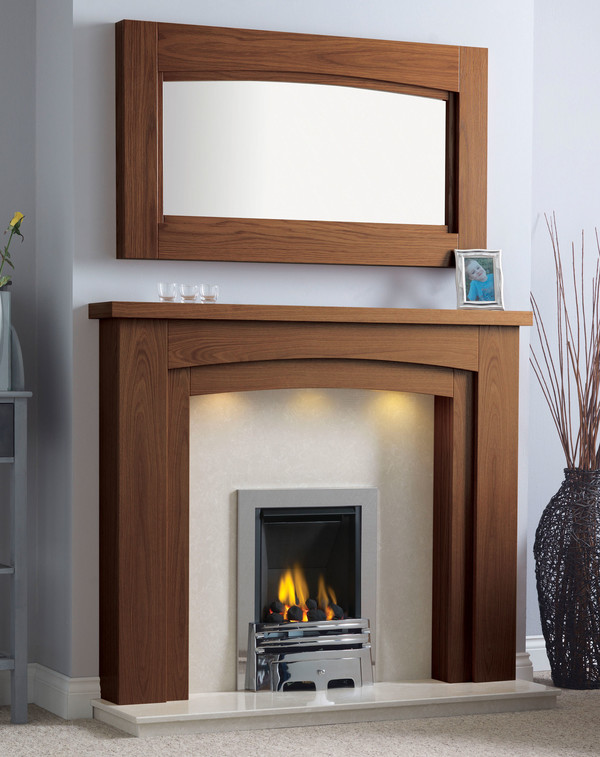 Newark Arch Fire Surround in Warm Oak