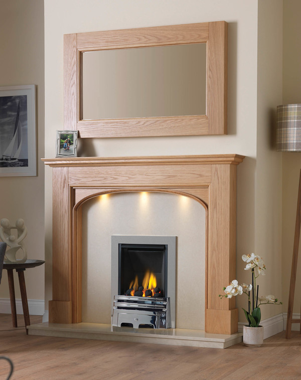 Hartwood Fire Surround Shown Here in Clear Oak