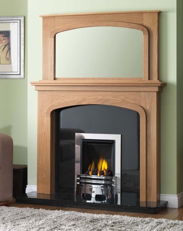 Phoenix Fire Surround shown here in Celtic Oak
