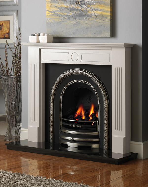 Stour Fire Surround shown in Brilliant White