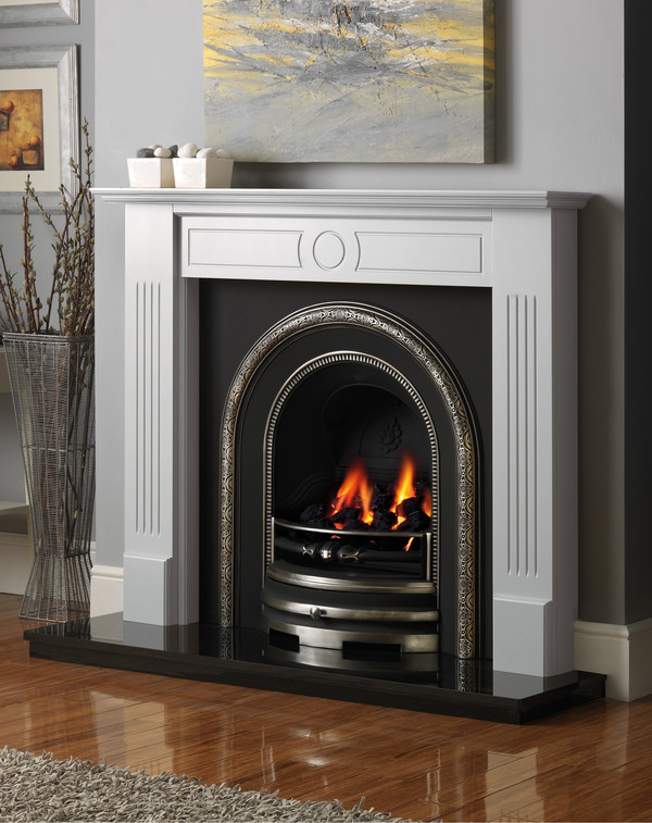 Stour Fire Surround shown in Mist