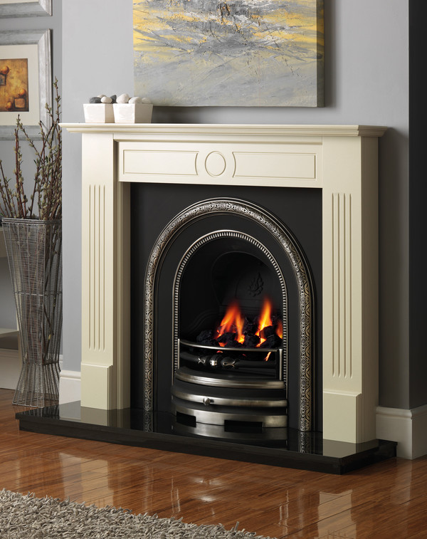 Stour Fire Surround shown in Olde England White