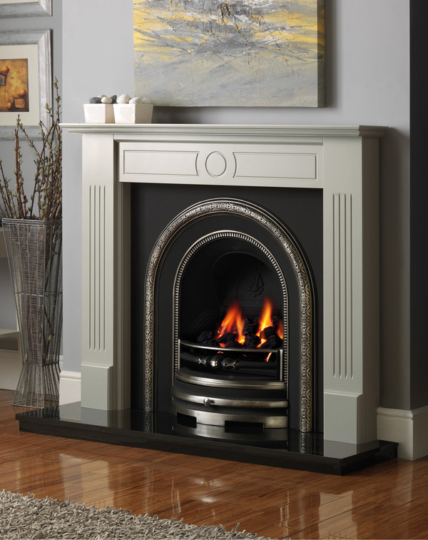 Stour Fire Surround shown in Olive