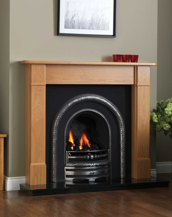 Orlando Solid Oak Fire Surround shown here in Celtic Oak