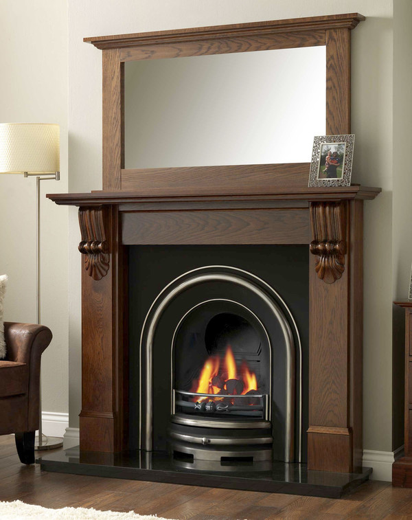 Providence Solid Oak fire surround shown here in Warm Oak
