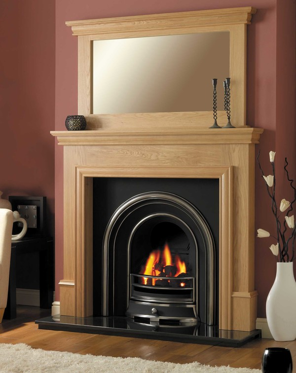 Washington oak mantel l2
