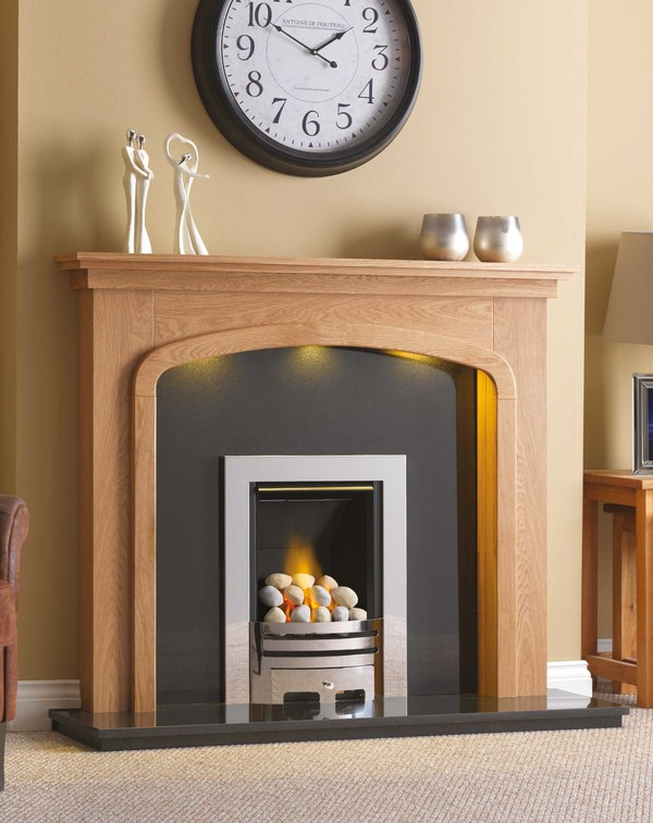 Oak Phoenix Surround Shown Here in Clear Oak