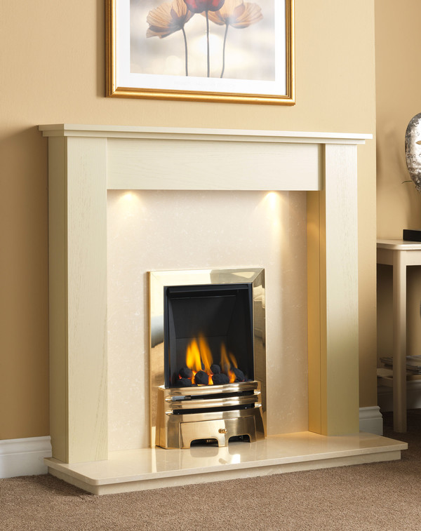 Fire Surround Shown Here Ivory