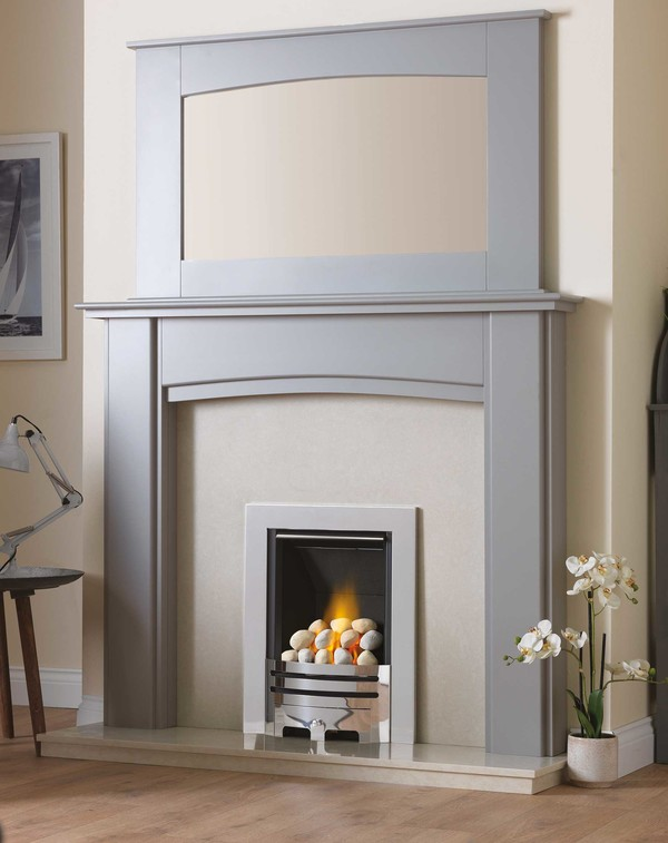 Hamble  Complete Fire Surround Package in Cloud