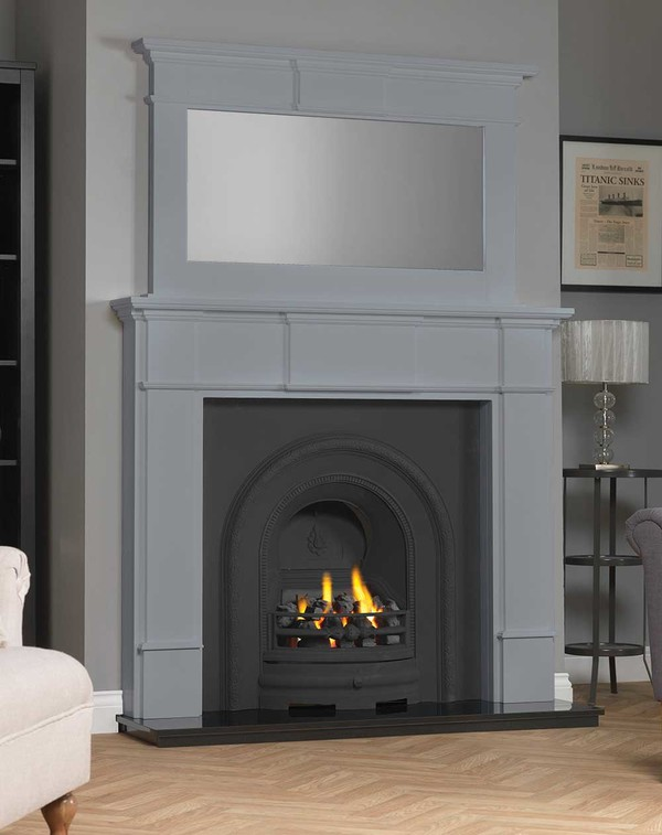 Chesham wood Fireplace Surround shown here in Cloud