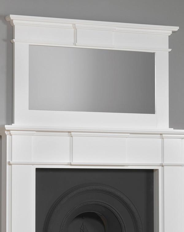 Braxton Wood Mirror Shown Here in Brilliant WhitevWhite